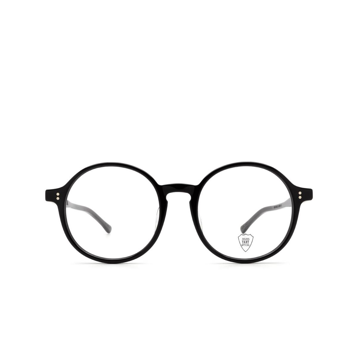Julius Tart Optical® Round Eyeglasses: Higgins color Black - front view.