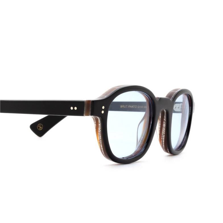 Lesca® Square Sunglasses: BRUT PANTO 8MM color Black 13.