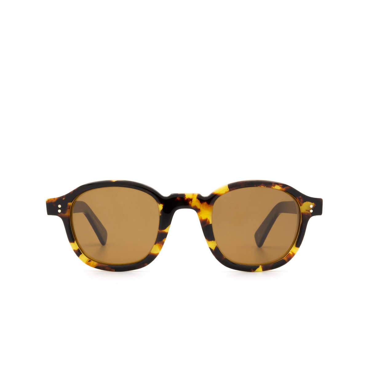 Lesca® Square Sunglasses: BRUT PANTO 8MM color Havana 15 - front view.