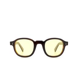 Lesca® Sunglasses: BRUT PANTO 8MM color Black & Brown 20.