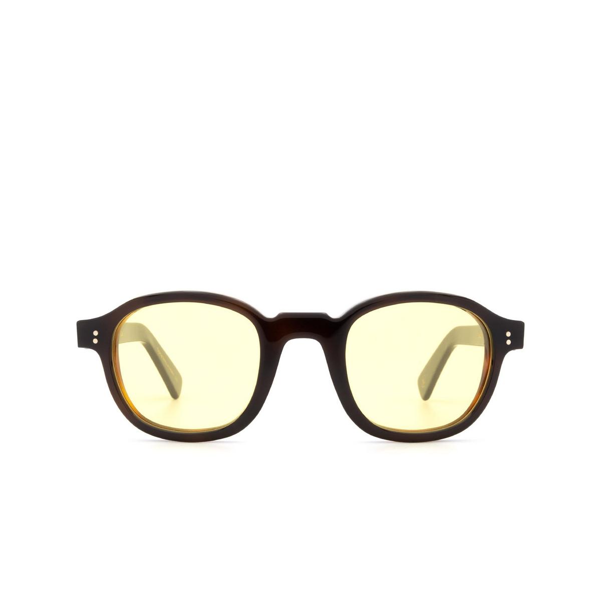 Lesca® Square Sunglasses: BRUT PANTO 8MM color Black & Brown 20.
