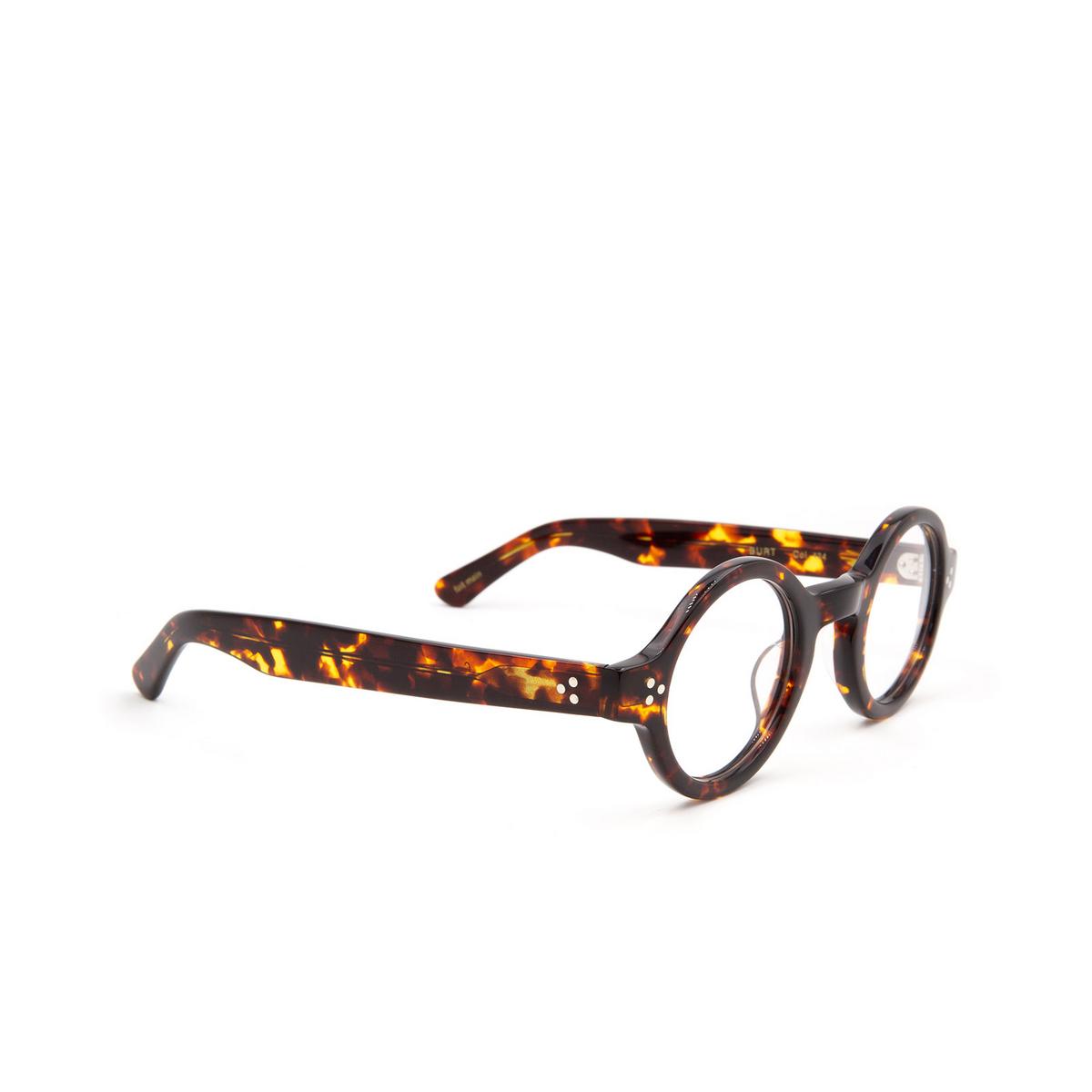 Lesca® Round Eyeglasses: Burt color Havana 424.
