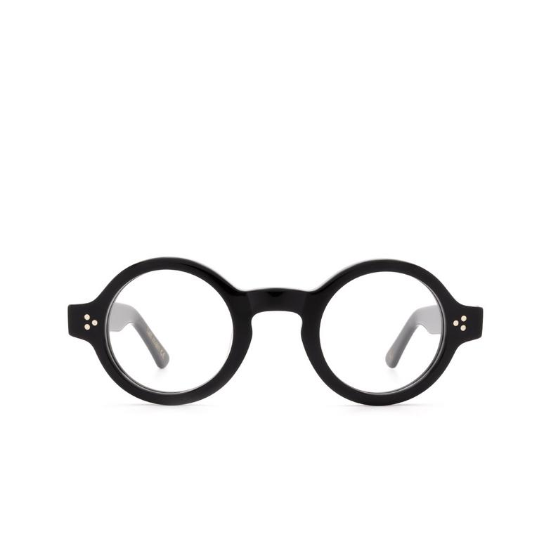 Lesca® Round Eyeglasses: Burt color Black 5.
