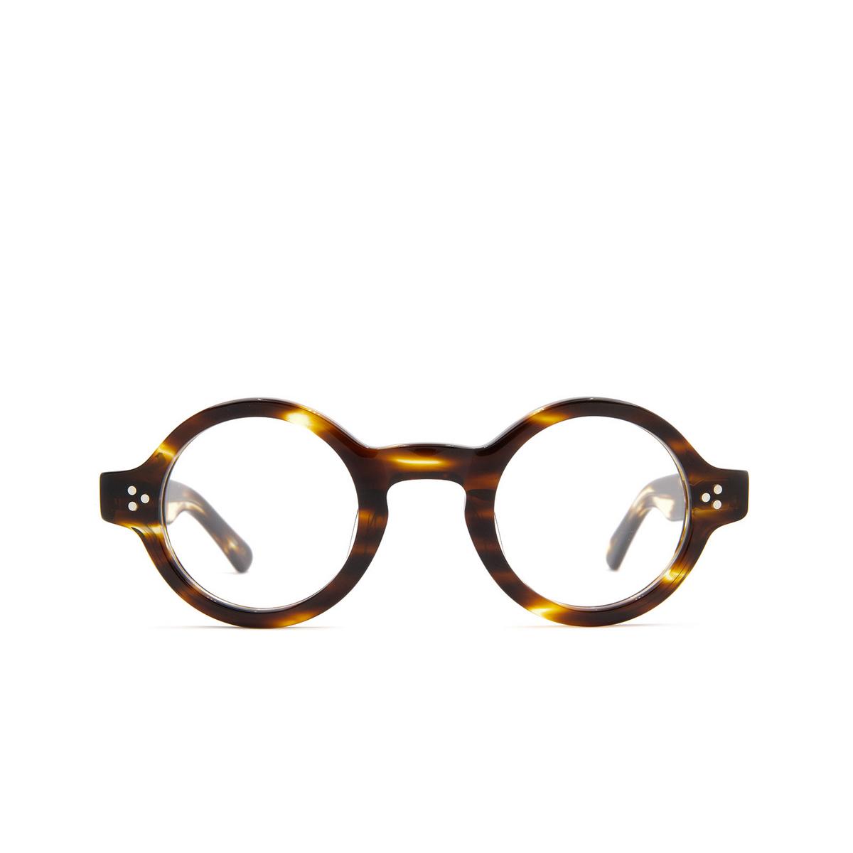 Lesca® Round Eyeglasses: Burt color Havana A3.