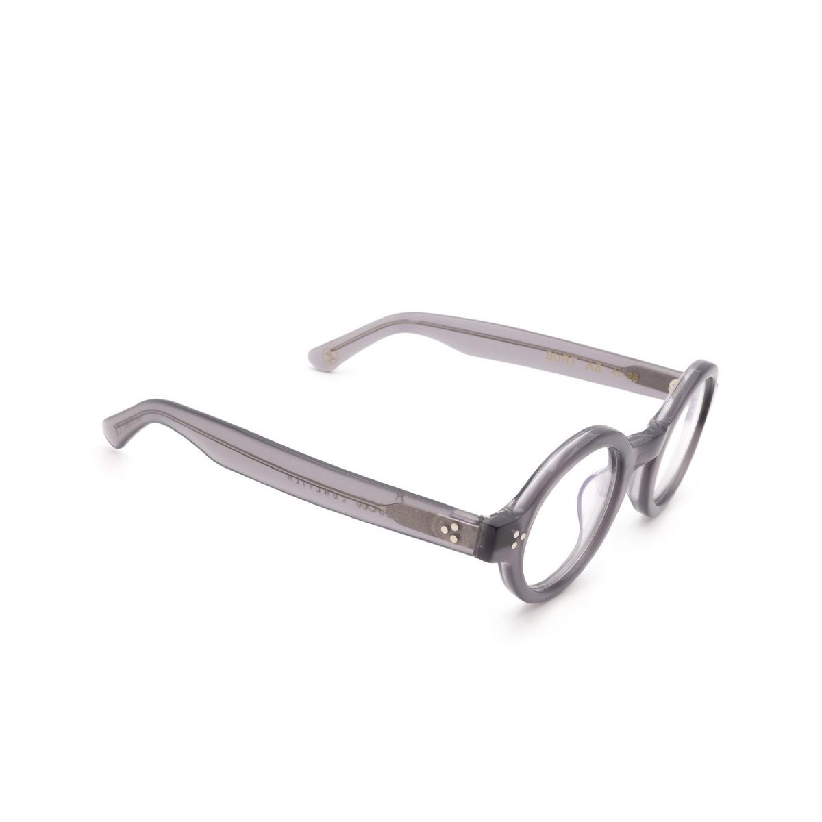 Lesca® Round Eyeglasses: Burt color Gray A5.