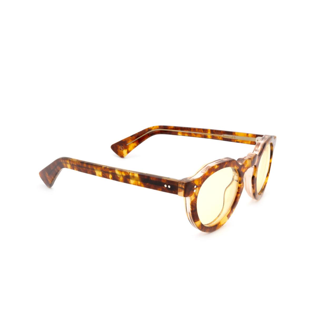 Lesca® Irregular Sunglasses: CROWN PANTO 8MM color Light Havana 9 - three-quarters view.