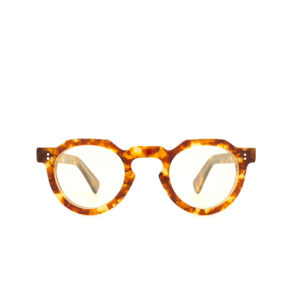 Lesca® Irregular Sunglasses: CROWN PANTO 8MM color Light Havana 9 - front view.