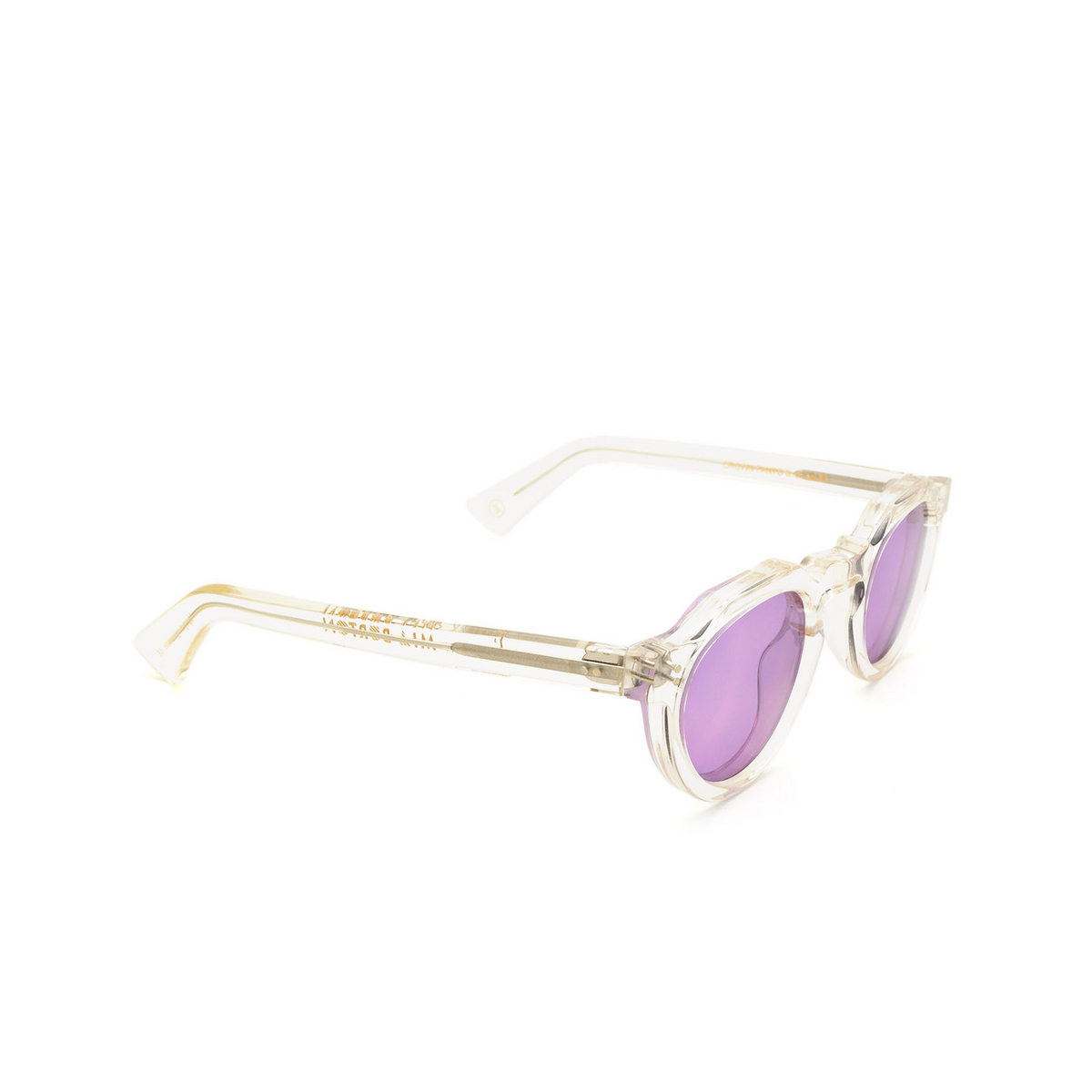 Lesca® Irregular Sunglasses: Crown Panto X Mia Burton color 21 - BRAVE PURPLE - three-quarters view.