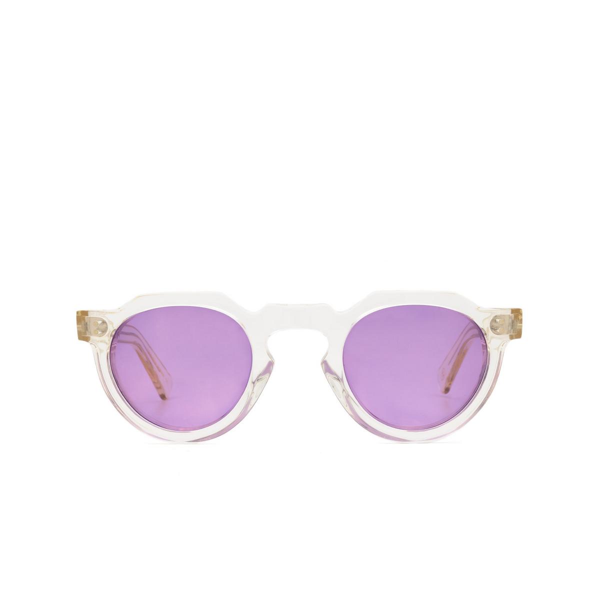 Lesca® Irregular Sunglasses: Crown Panto X Mia Burton color 21 - BRAVE PURPLE - front view.