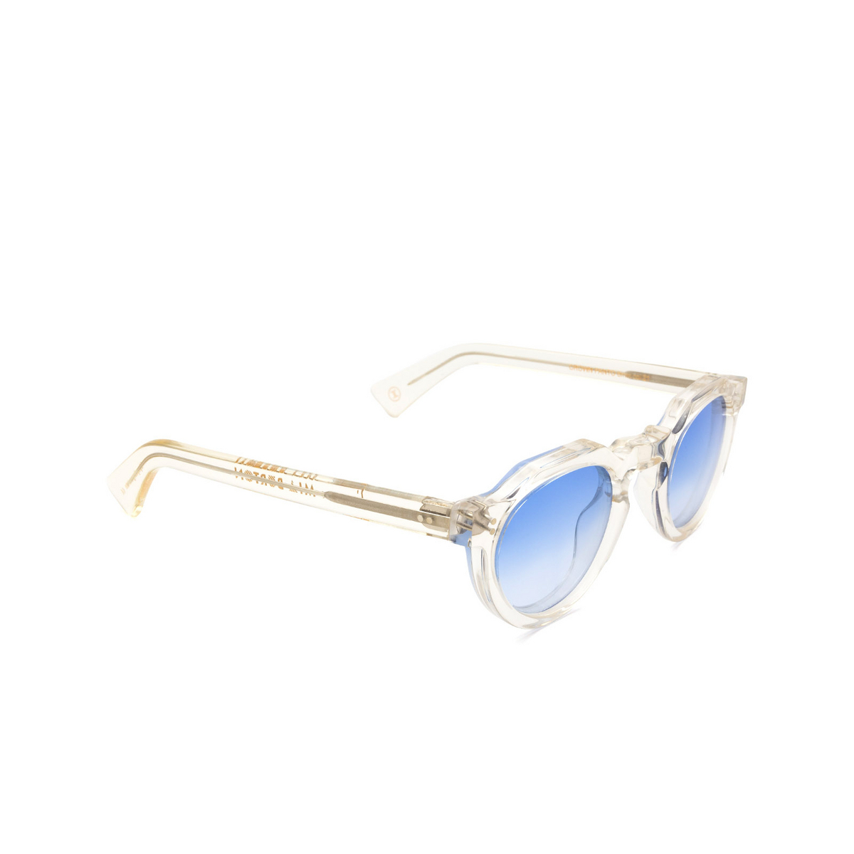 Lesca® Irregular Sunglasses: Crown Panto X Mia Burton color 21 - COOL / RADIANT GRADIENT - three-quarters view.