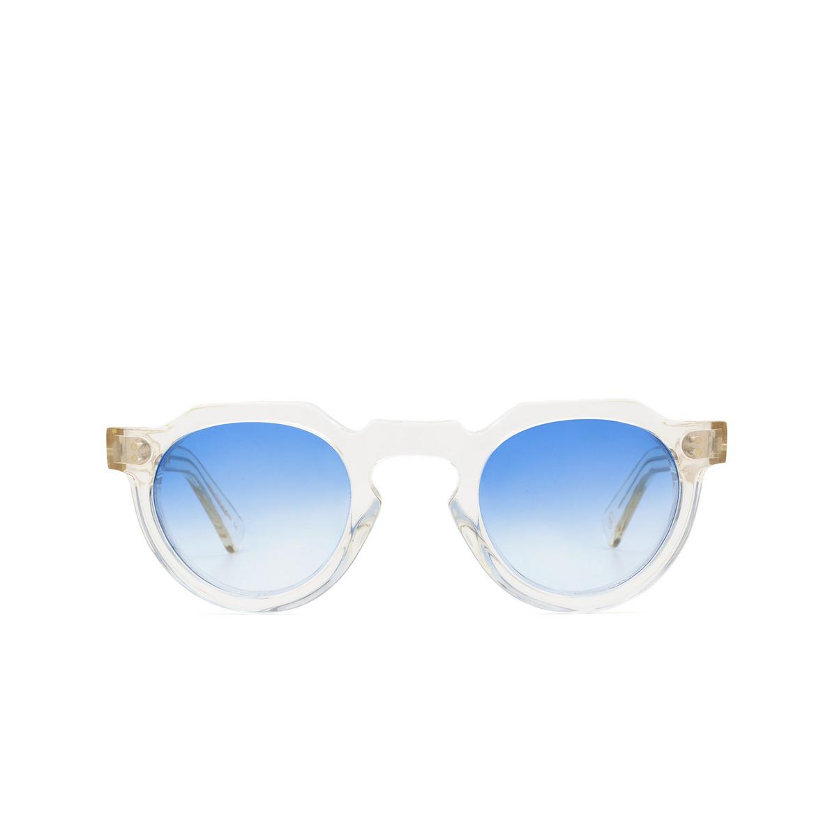 Lesca® Irregular Sunglasses: Crown Panto X Mia Burton color 21 - COOL / RADIANT GRADIENT - front view.