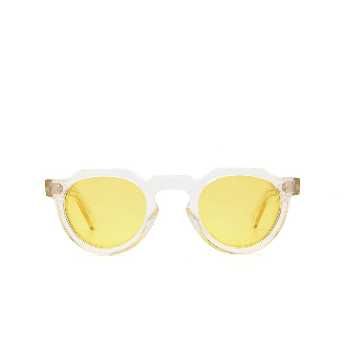 Lesca® Irregular Sunglasses: Crown Panto X Mia Burton color 21 - JOYFUL YELLOW - front view.