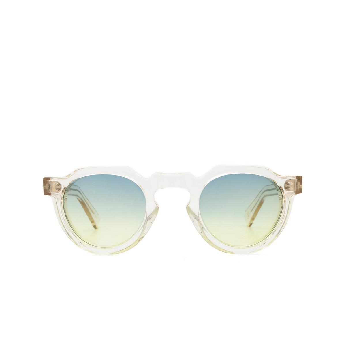 Lesca® Irregular Sunglasses: Crown Panto X Mia Burton color 21 - LOUD MIND / SOFT VOICE GRADIENT - front view.