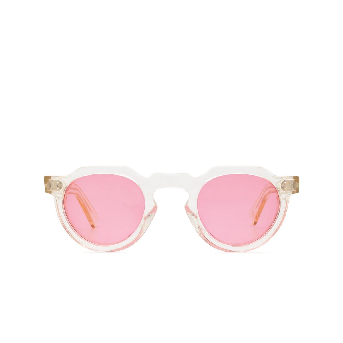 Lesca® Irregular Sunglasses: Crown Panto X Mia Burton color 21 - SELF-LOVING PINK - front view.