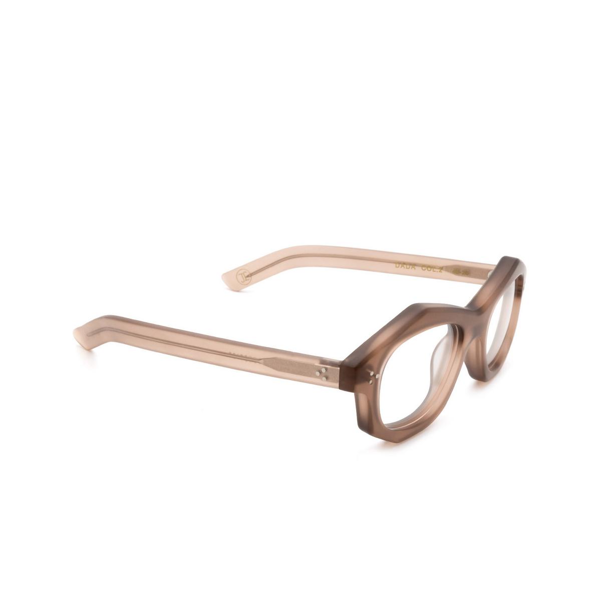 Lesca® Irregular Eyeglasses: Dada color Chair Matt 2 - three-quarters view.