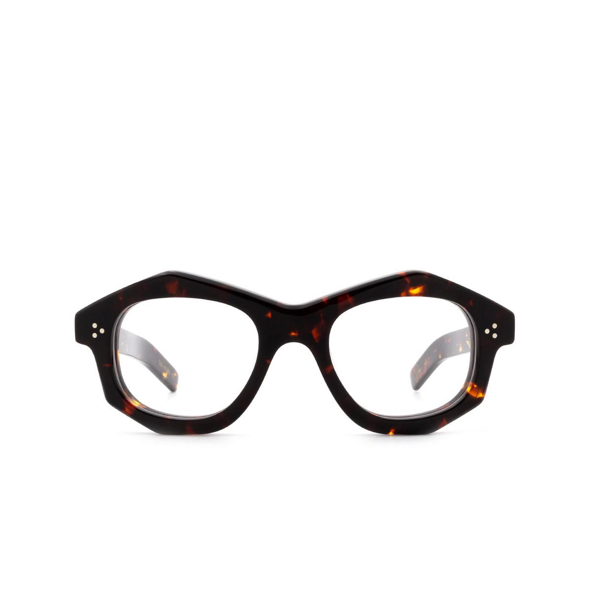 Lesca® Irregular Eyeglasses: Dada color Écaille Foncé 424 - front view.