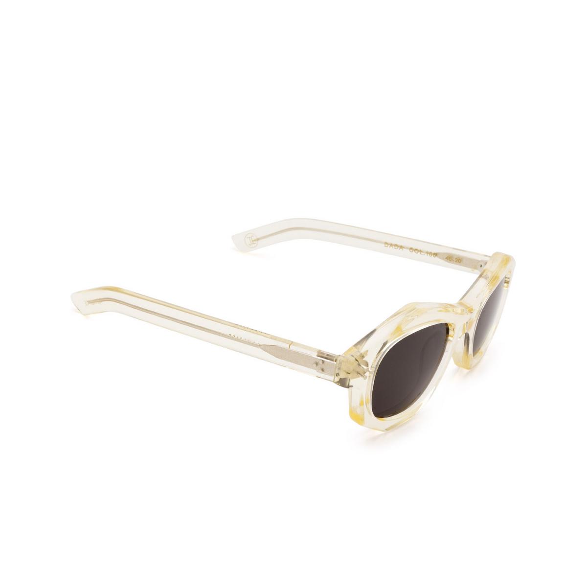 Lesca® Irregular Sunglasses: Dada Sun color Champagne 186 - three-quarters view.