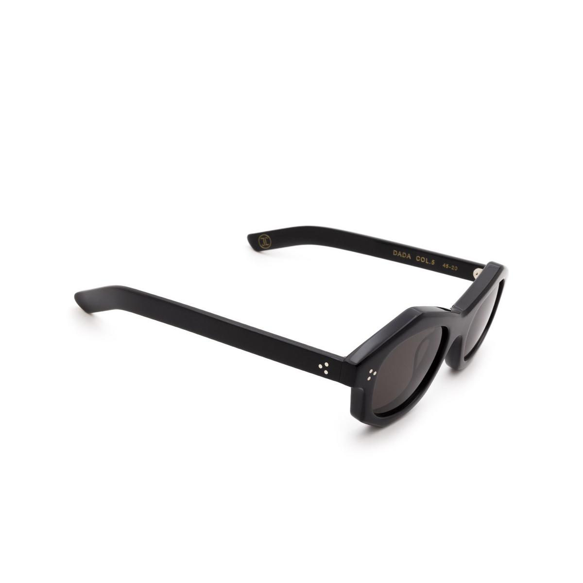Lesca® Irregular Sunglasses: Dada Sun color Black 5 - three-quarters view.
