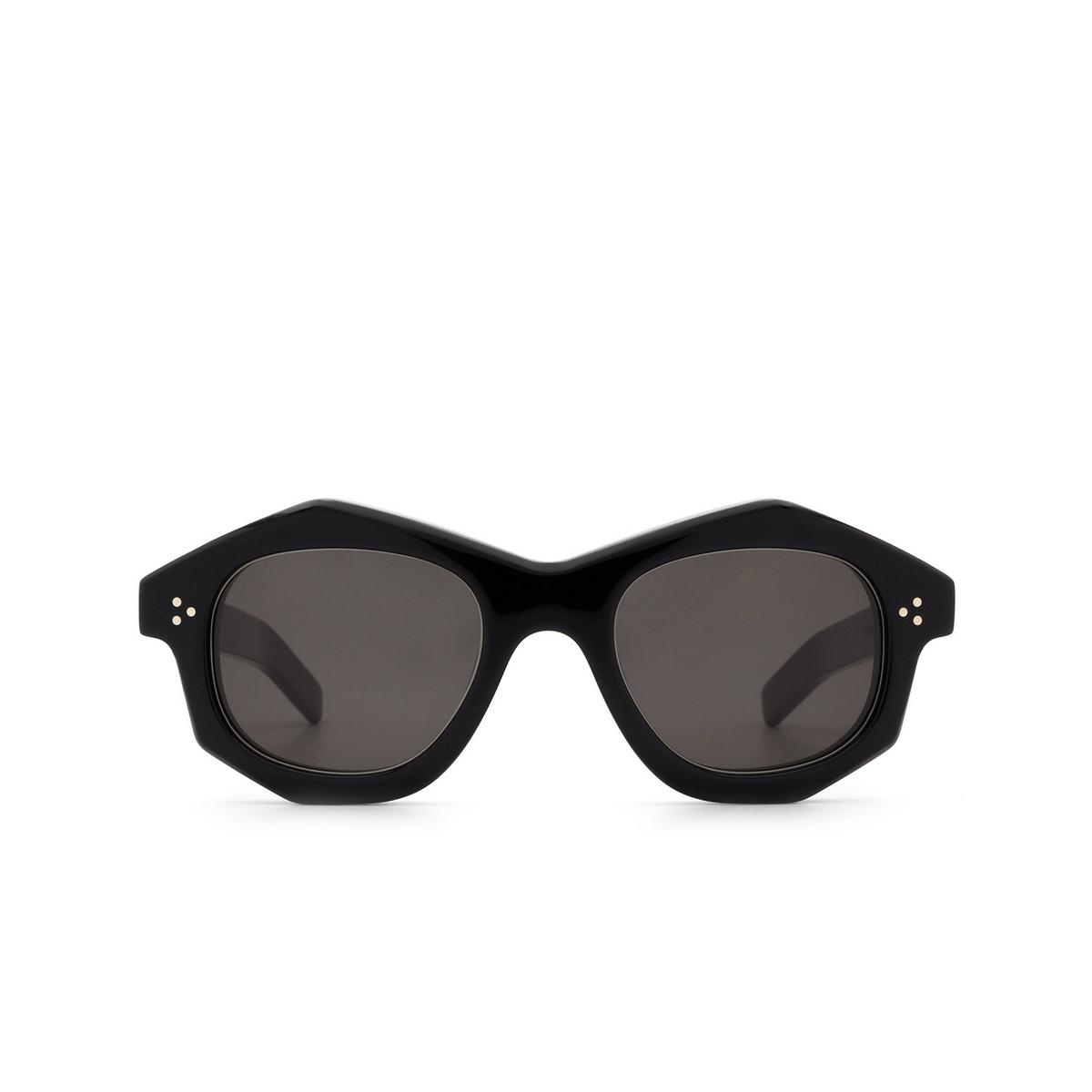 Lesca® Irregular Sunglasses: Dada Sun color Black 5 - front view.