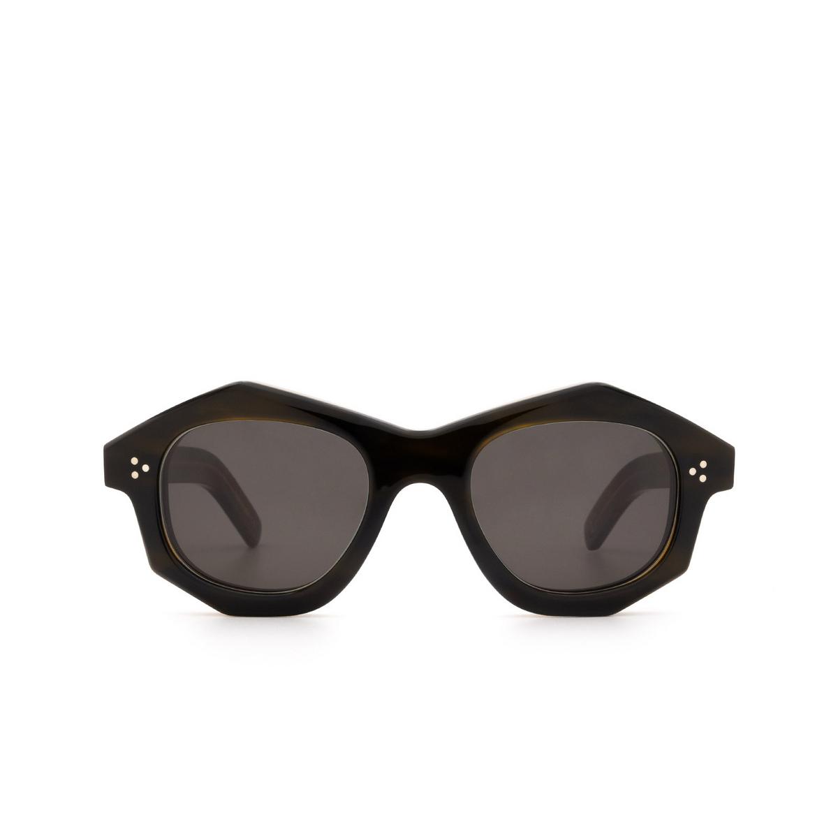 Lesca® Irregular Sunglasses: Dada Sun color Kaki - front view.