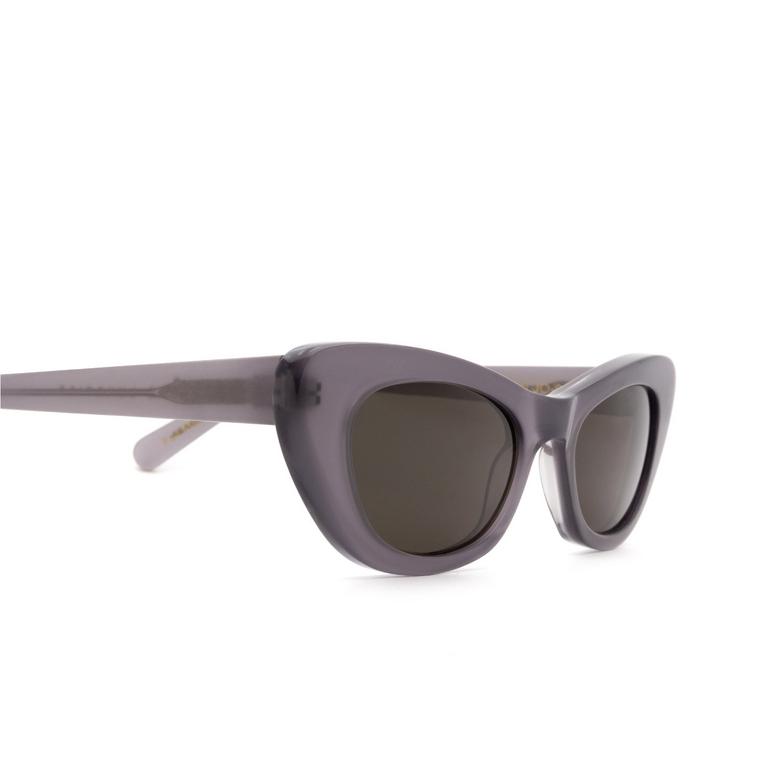 Lesca® Cat-eye Sunglasses: Doro color Gris JO-6.