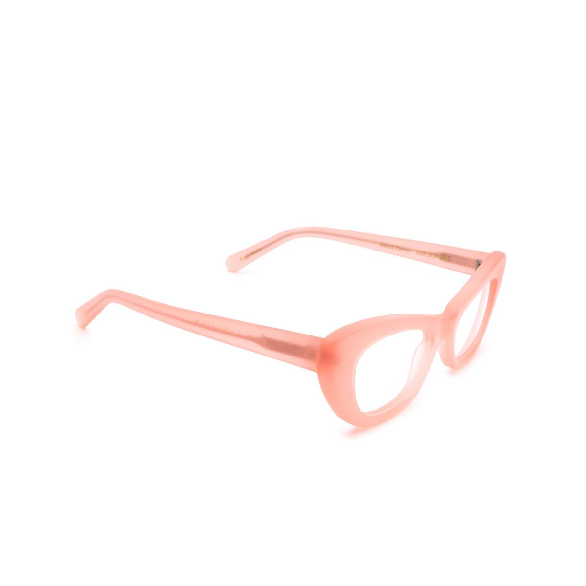 Lesca® Cat-eye Eyeglasses: Doro Optic color Rose JO-2M - three-quarters view.