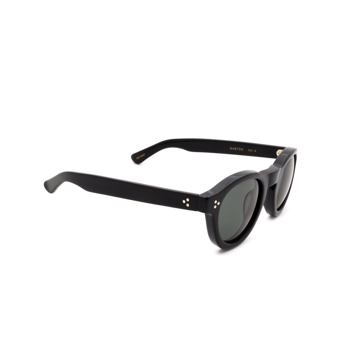 Lesca® Round Sunglasses: Gaston color Noir 5 - 2/3.
