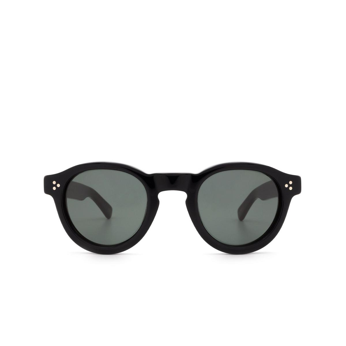 Lesca® Round Sunglasses: Gaston color Noir 5 - 1/3.