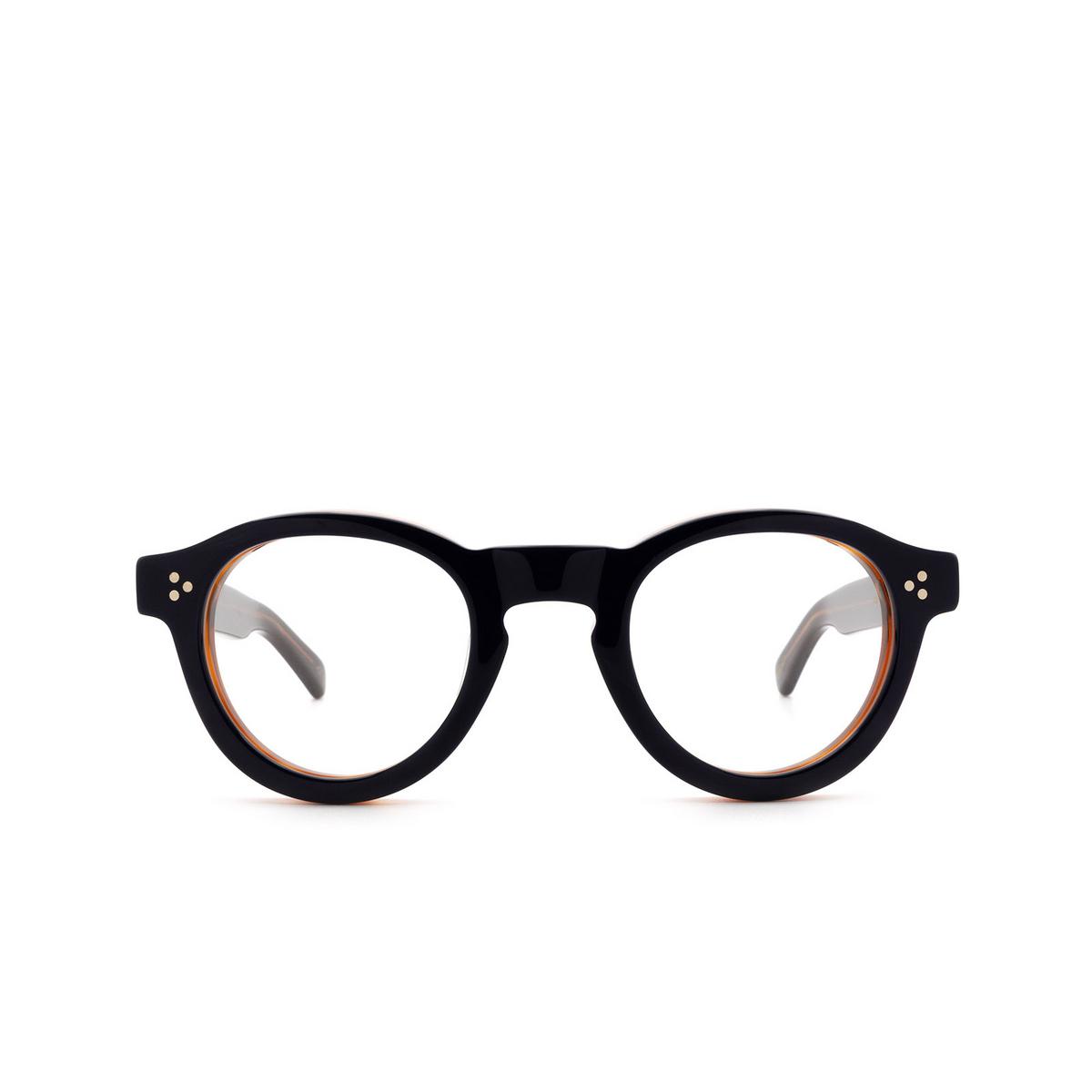Lesca® Round Eyeglasses: Gaston Optic color Bleu / Cognac 30 - front view.