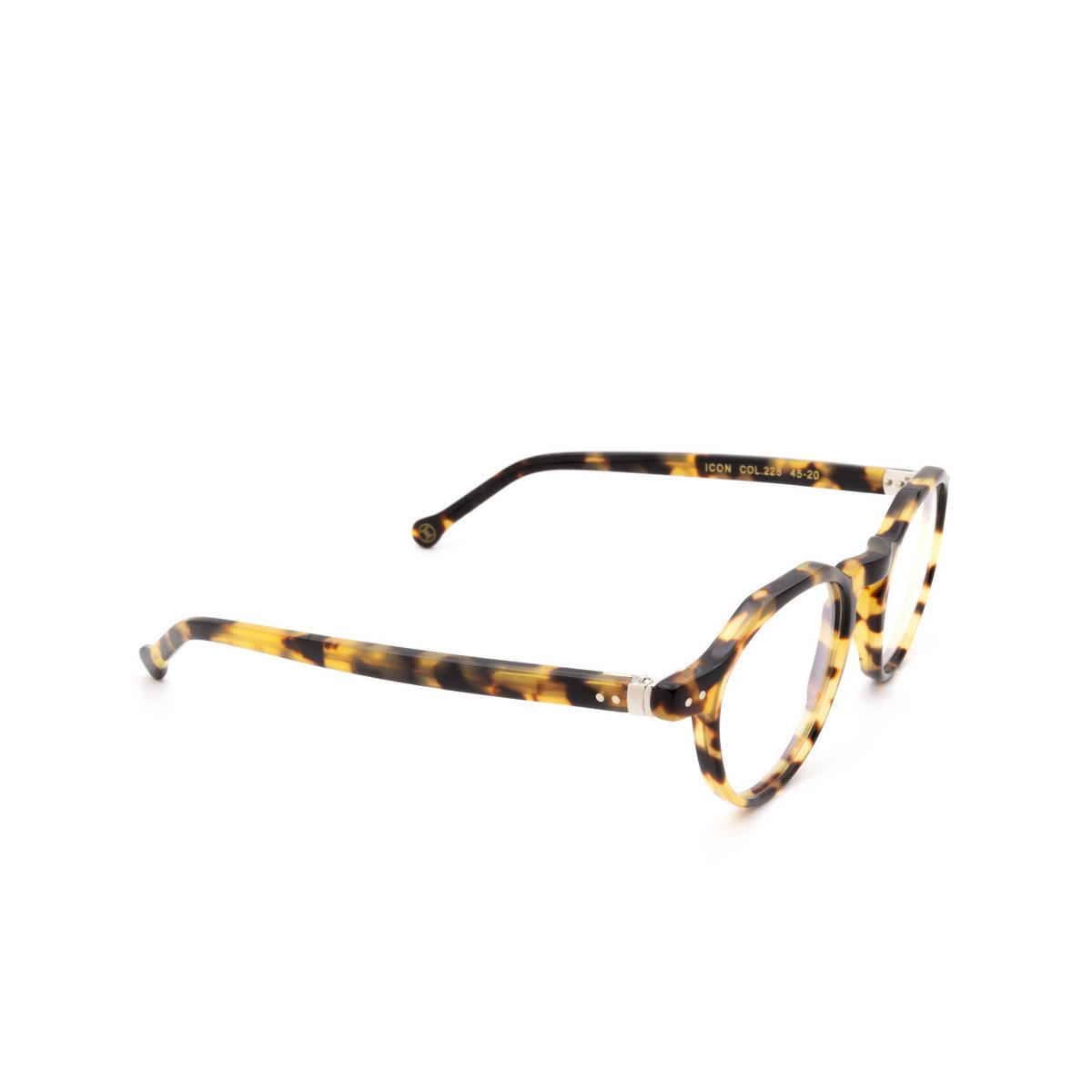 Lesca® Irregular Eyeglasses: Icon color Havana 228 - three-quarters view.