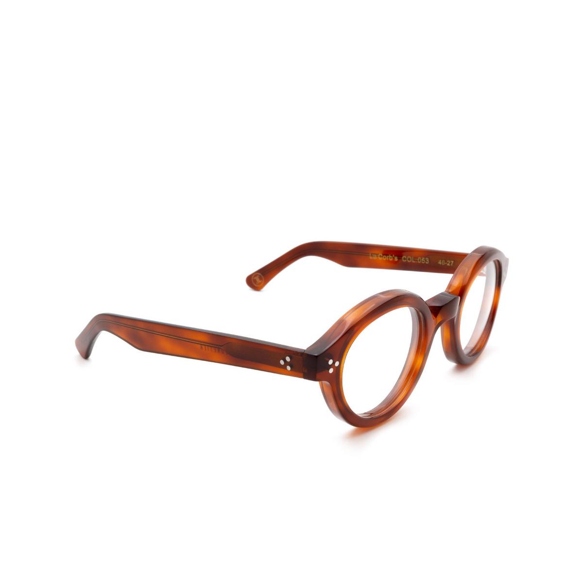 Lesca® Round Eyeglasses: La Corbs Optic color Havana 053.