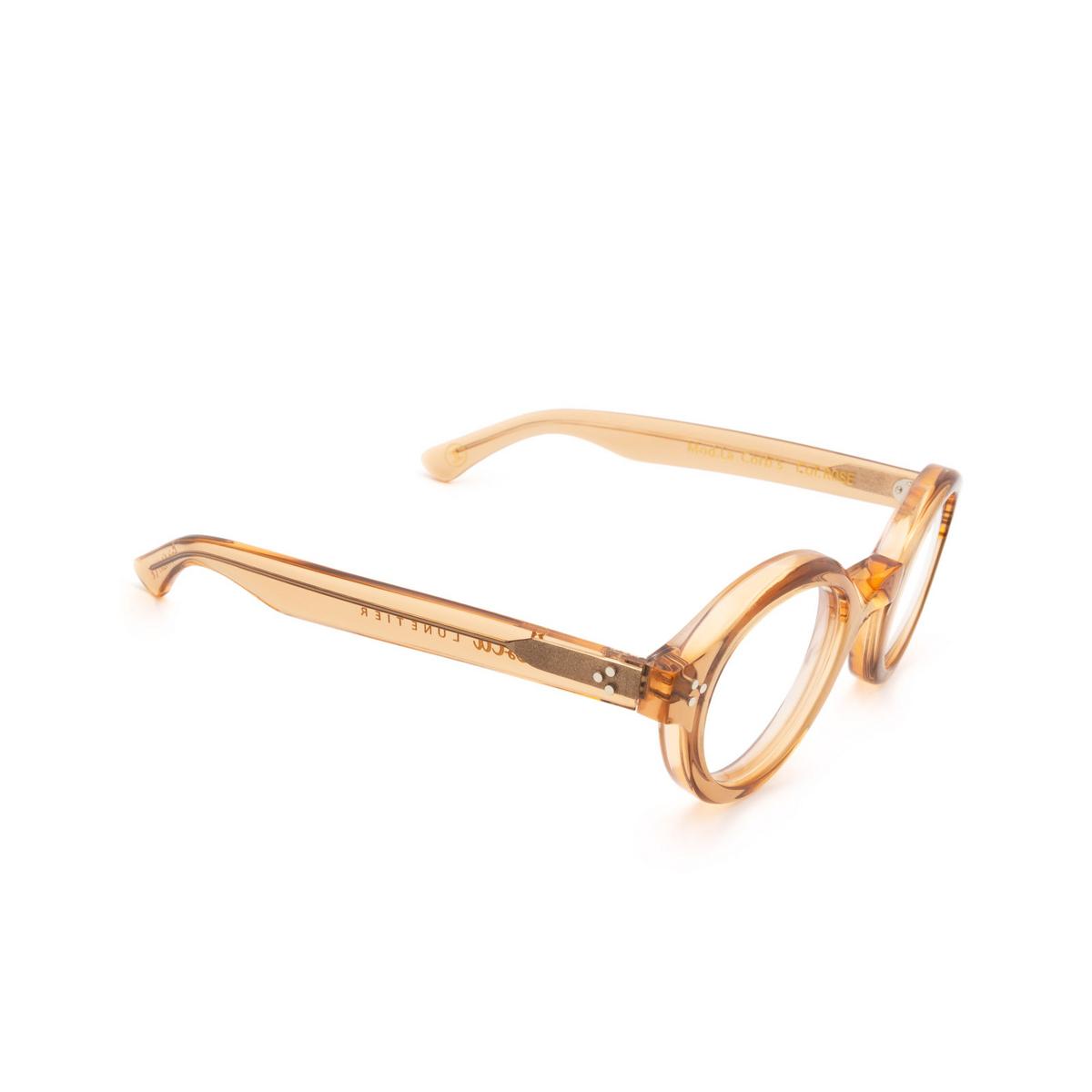 Lesca® Round Eyeglasses: La Corbs Optic color Pink Rose - three-quarters view.