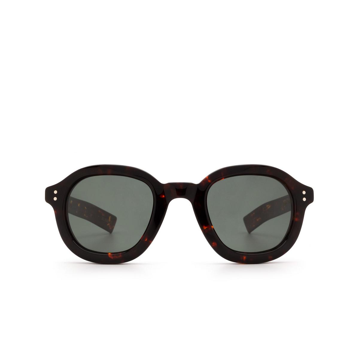 Lesca® Square Sunglasses: Largo color Dark Tortoise 424 - front view.