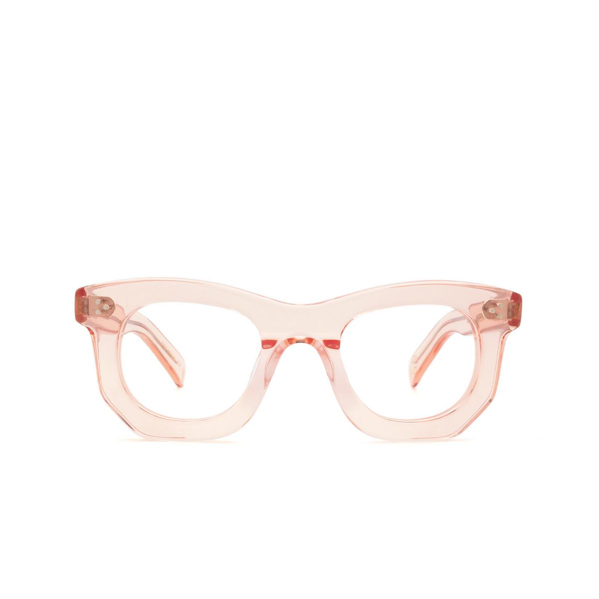 Lesca® Irregular Eyeglasses: Ogre color Pink Rose - front view.