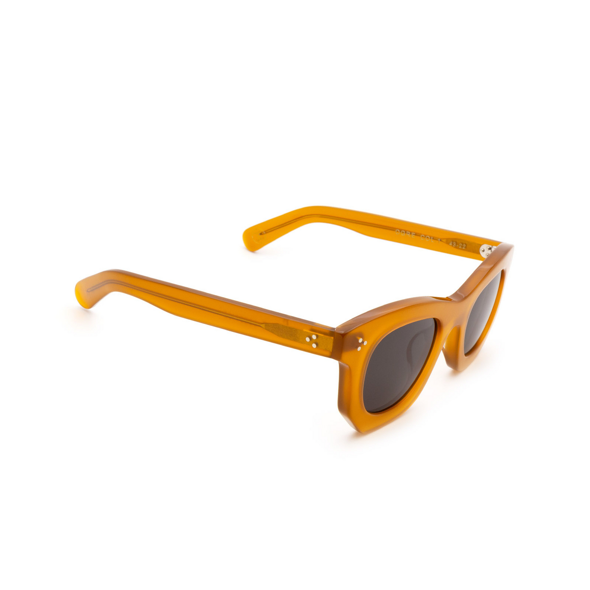 Lesca® Irregular Sunglasses: Ogre Sun color Honey 1 - three-quarters view.