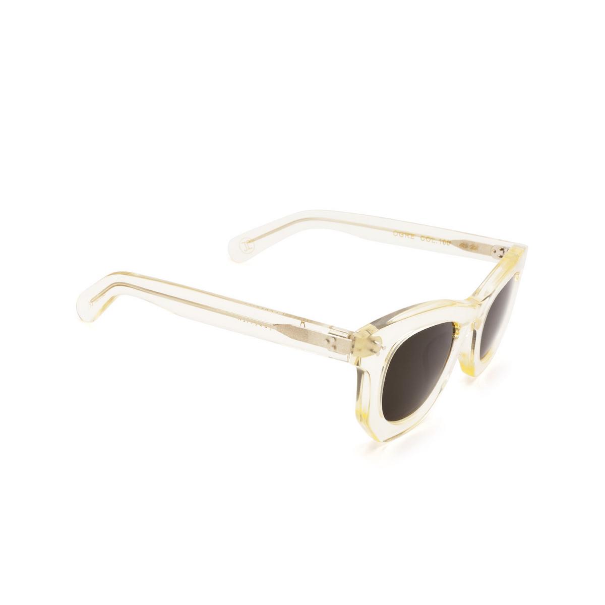 Lesca® Irregular Sunglasses: Ogre Sun color Champagne 186 - three-quarters view.