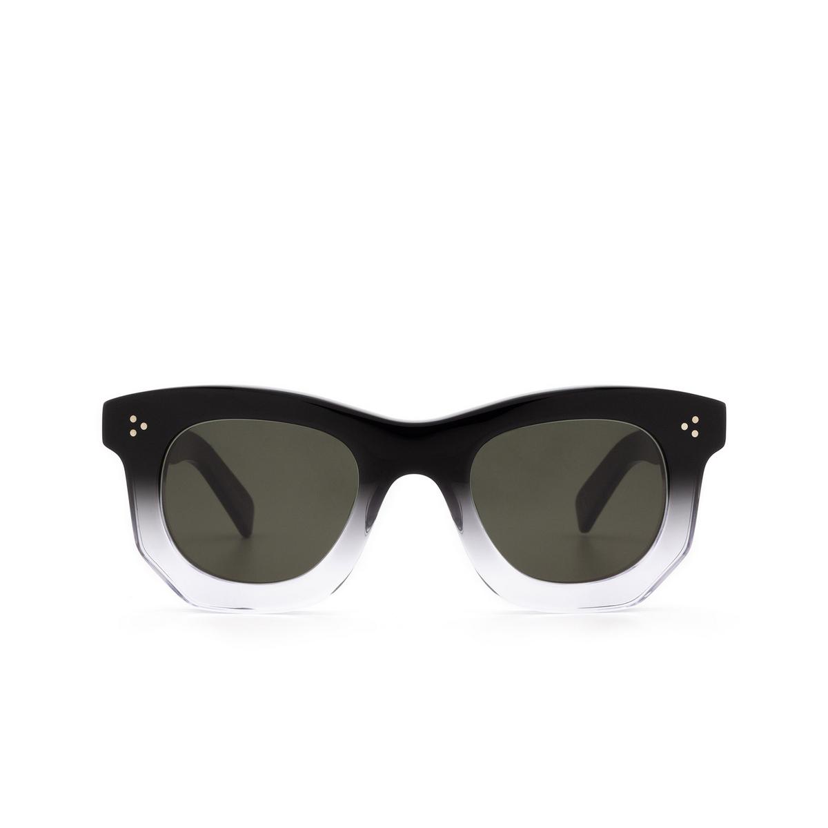 Lesca® Irregular Sunglasses: Ogre Sun color Black Degraded Deg - front view.