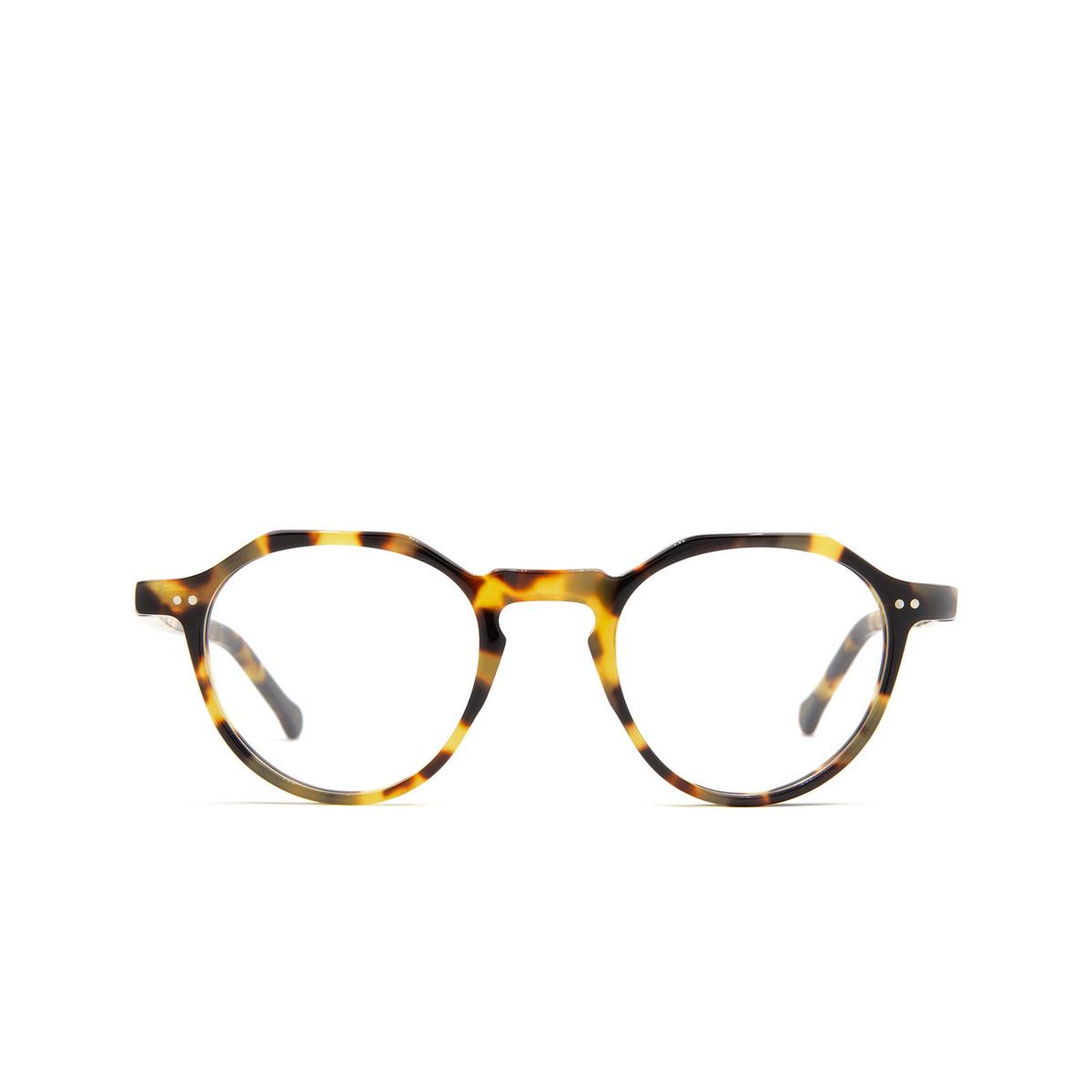Lesca® Irregular Eyeglasses: P2 color Light Tortoise 228 - front view.