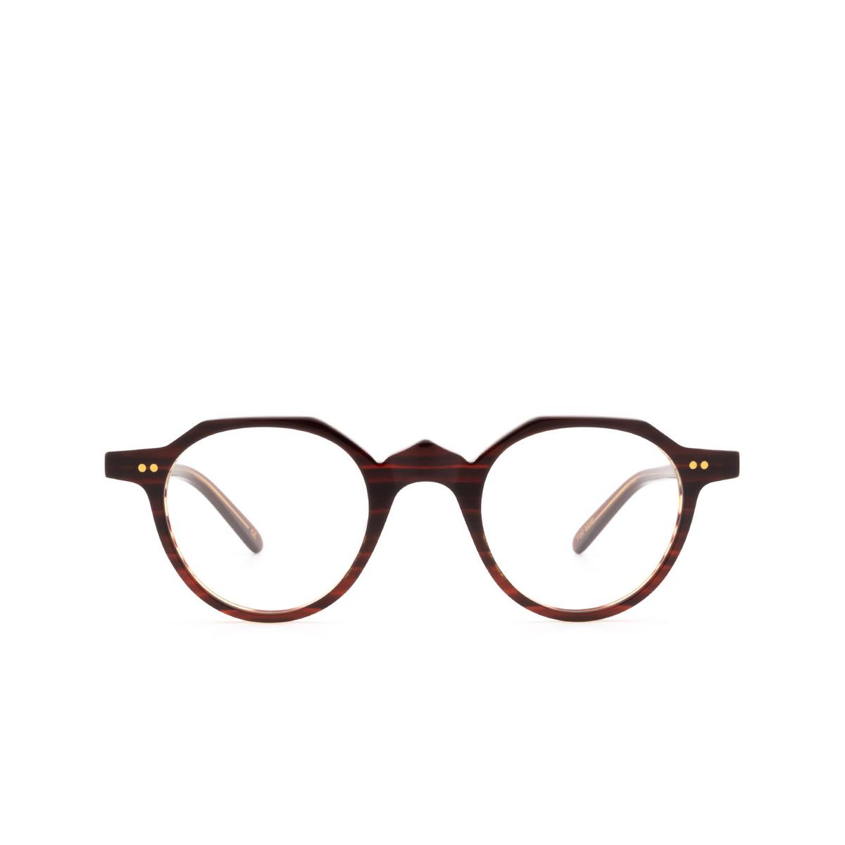 Lesca® Irregular Eyeglasses: P21 color Dark Havana 22 - front view.