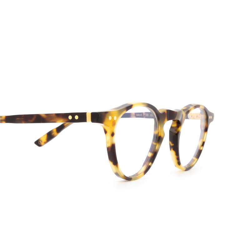 Lesca® Round Eyeglasses: P38 color Havana 4.