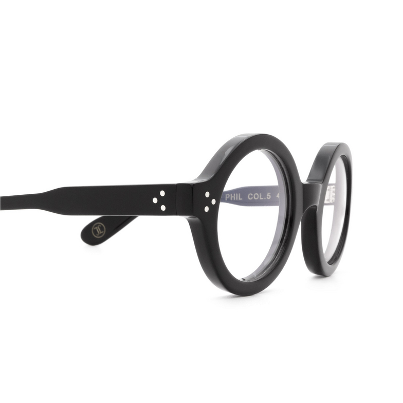 Lesca® Round Eyeglasses: Phil color Black 5.