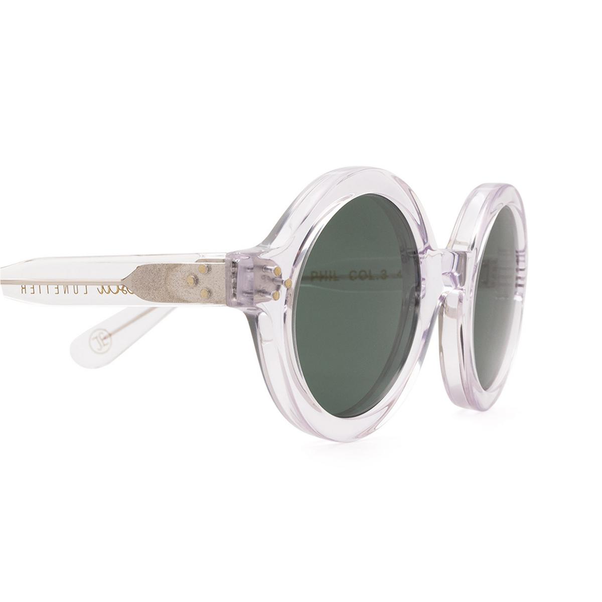 Lesca® Round Sunglasses: Phil Sun color Crystal 3 - 3/3.