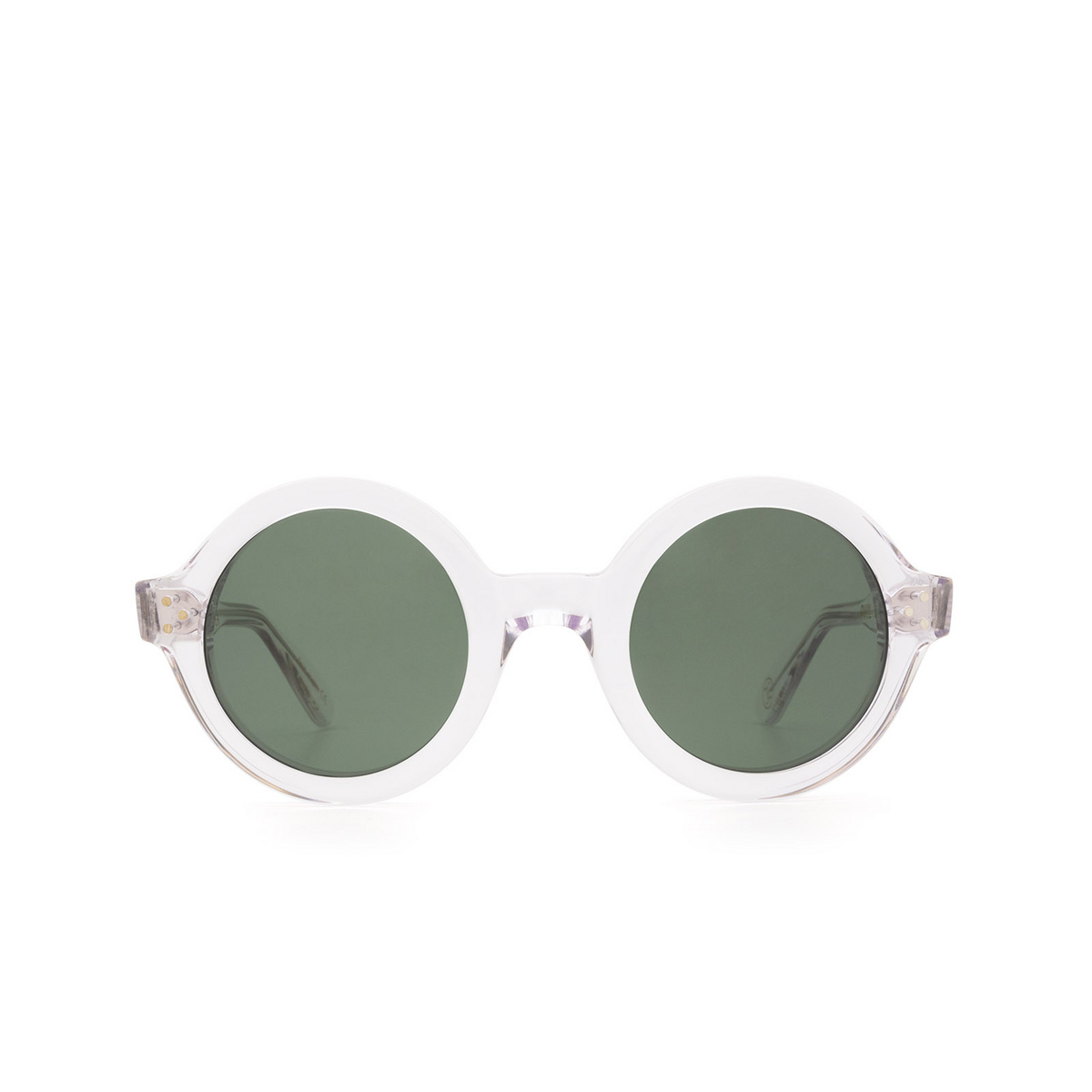 Lesca® Round Sunglasses: Phil Sun color Crystal 3 - front view.