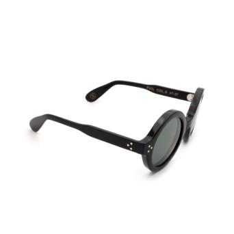 Lesca® Round Sunglasses: Phil Sun color Black 5.