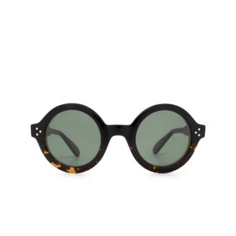 Lesca® Round Sunglasses: Phil Sun color Dark Havana A1.