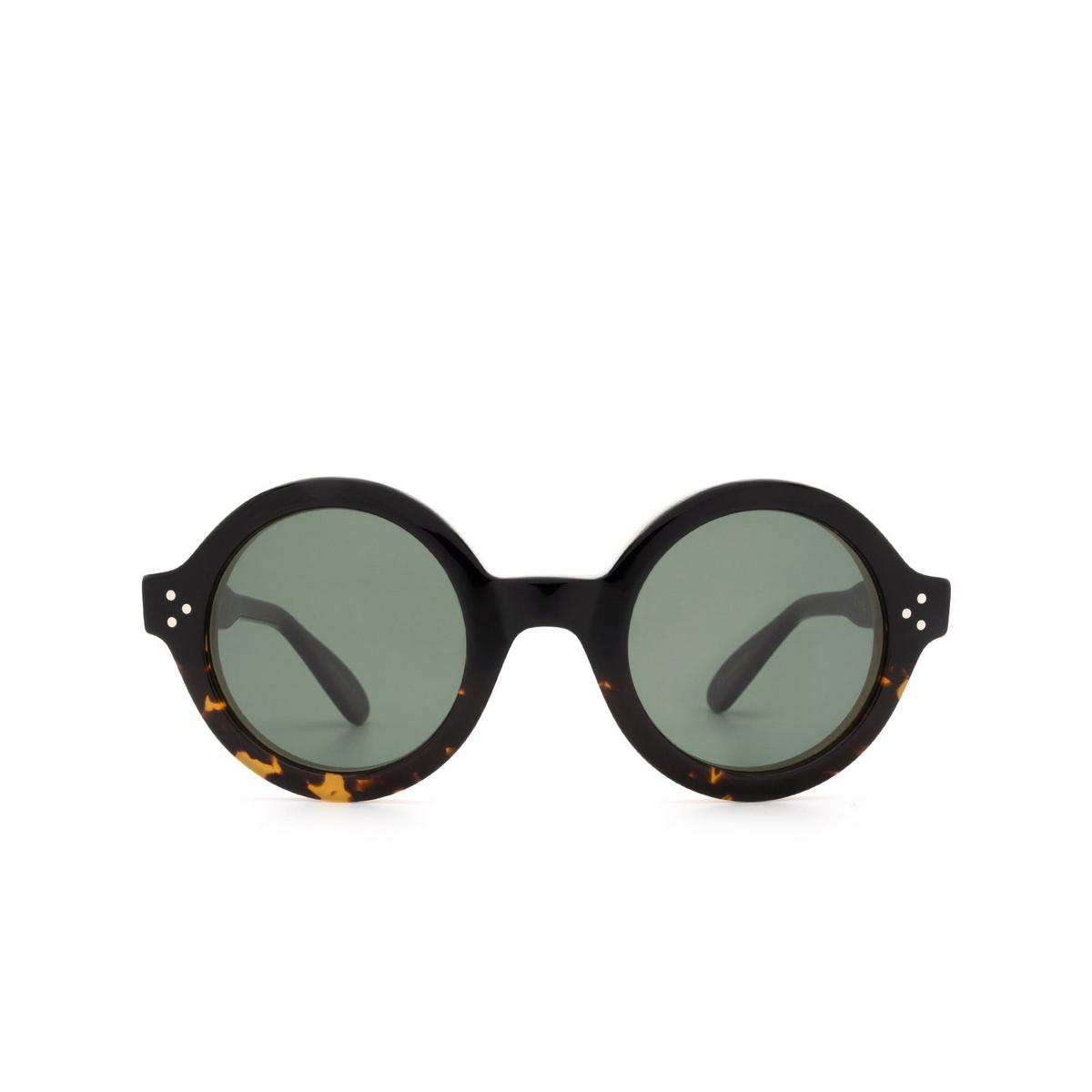 Lesca® Round Sunglasses: Phil Sun color Dark Havana A1 - front view.
