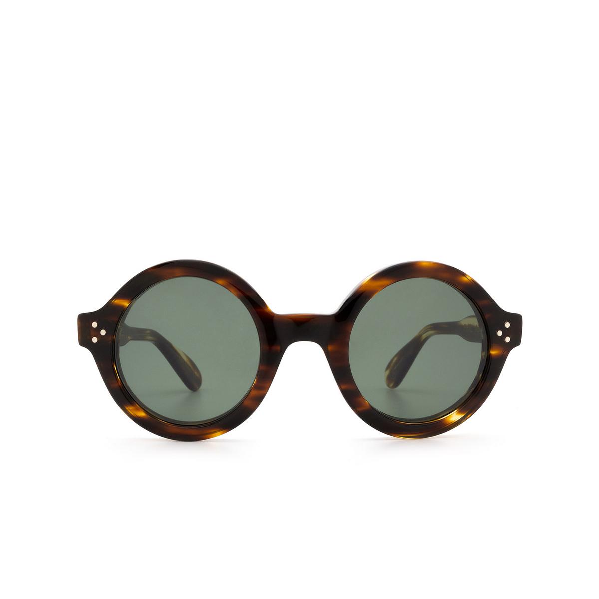 Lesca® Round Sunglasses: Phil Sun color Light Tortoise Tortoise A8 - front view.