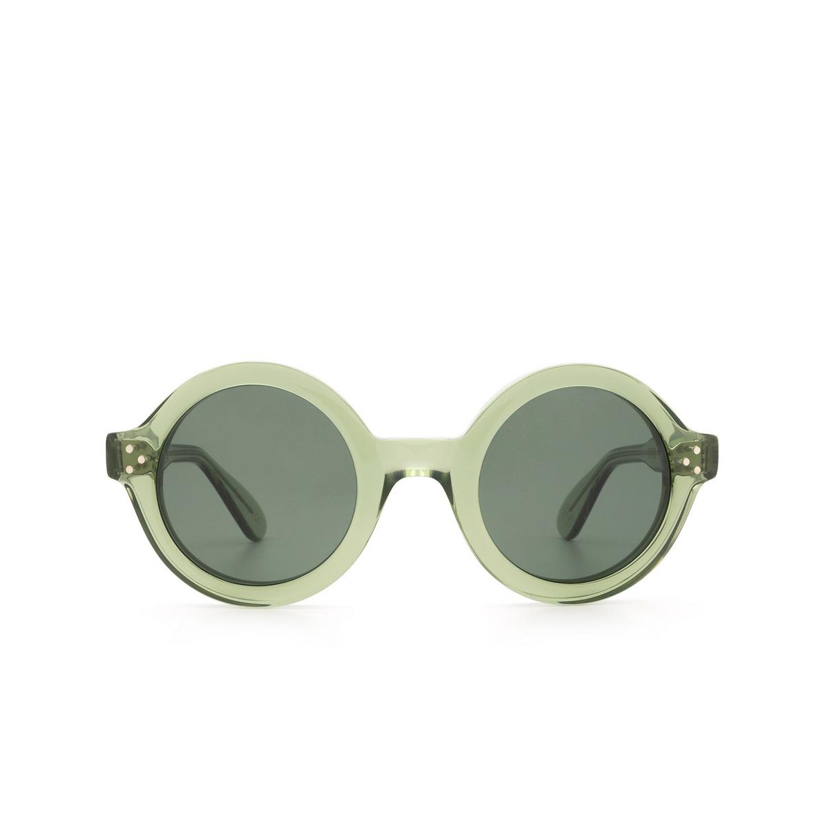 Lesca® Round Sunglasses: Phil Sun color Green 2 A9 - front view.