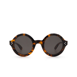 Lesca® Round Sunglasses: Phil Sun color Marble Tortoise H827.