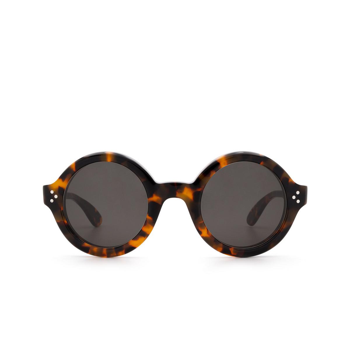 Lesca® Round Sunglasses: Phil Sun color Marble Tortoise H827 - front view.